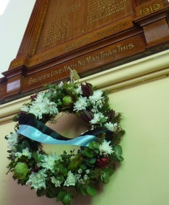 Honour Board and wreath