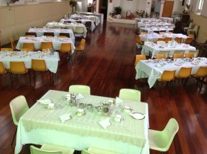 Church Hall set for High Tea 2016